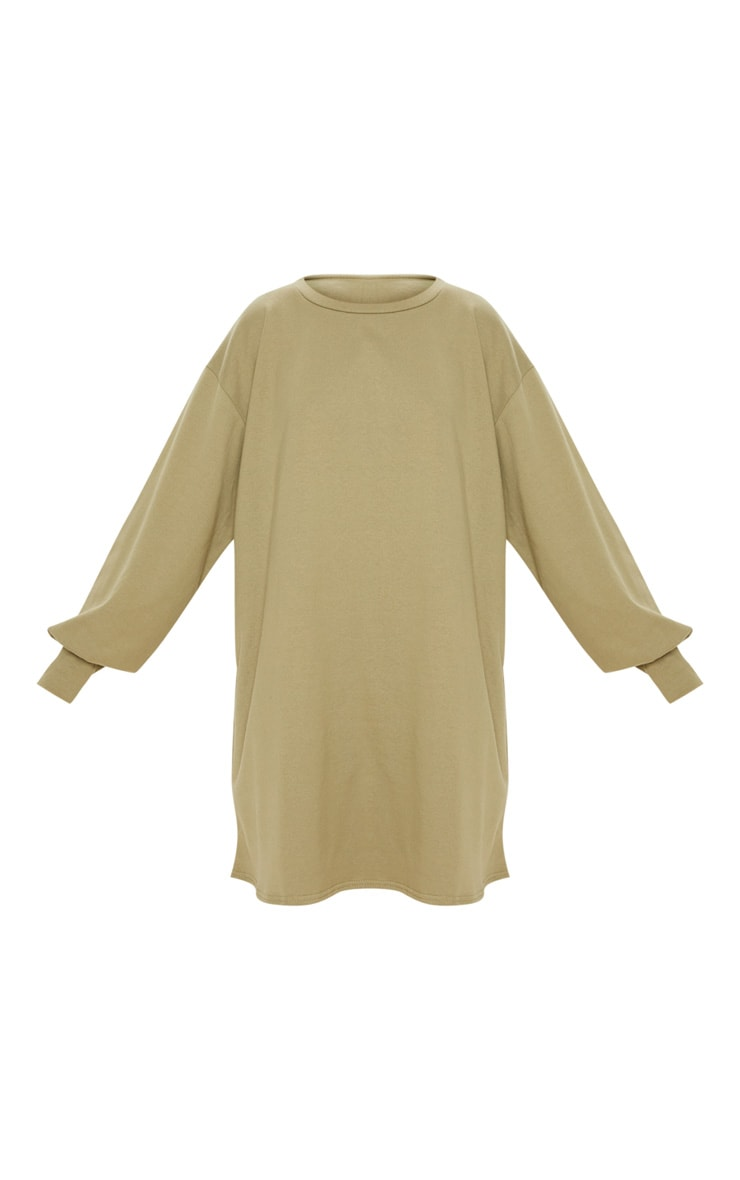 Sage Green Oversized Sweater Dress 3