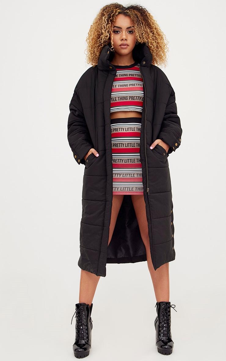 Premium Black Longline Puffer Jacket 1