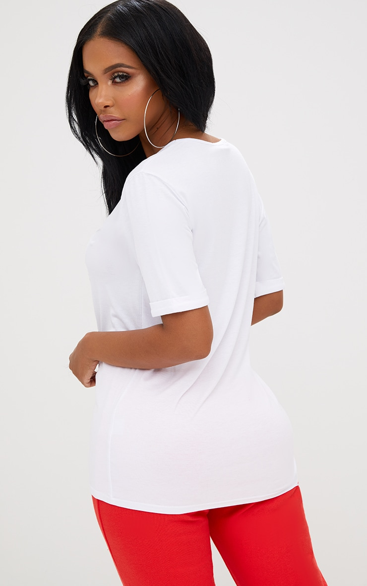 Shape White V Neck Tshirt 2