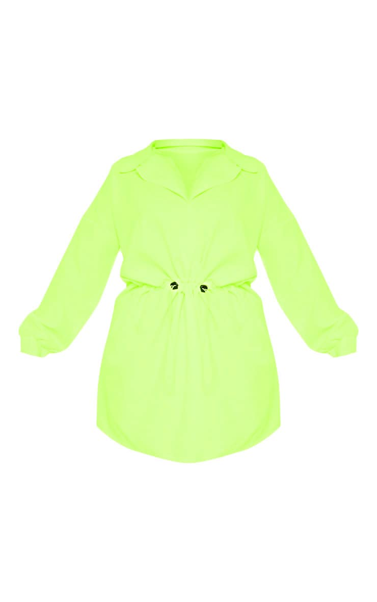 Plus Neon Lime Toggle Waist Shift Dress 3