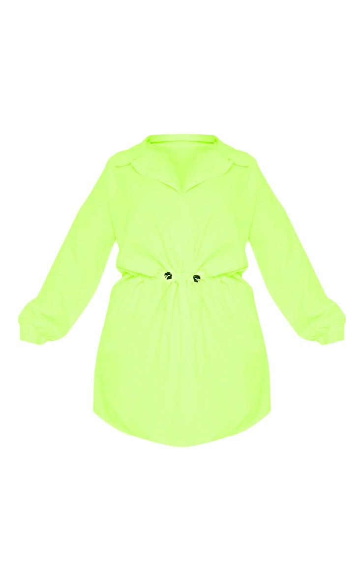 Plus Neon Lime Toggle Waist Shift Dress 3