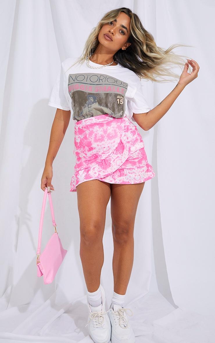 Petite Pink Tie Dye Jersey Mini Skirt
