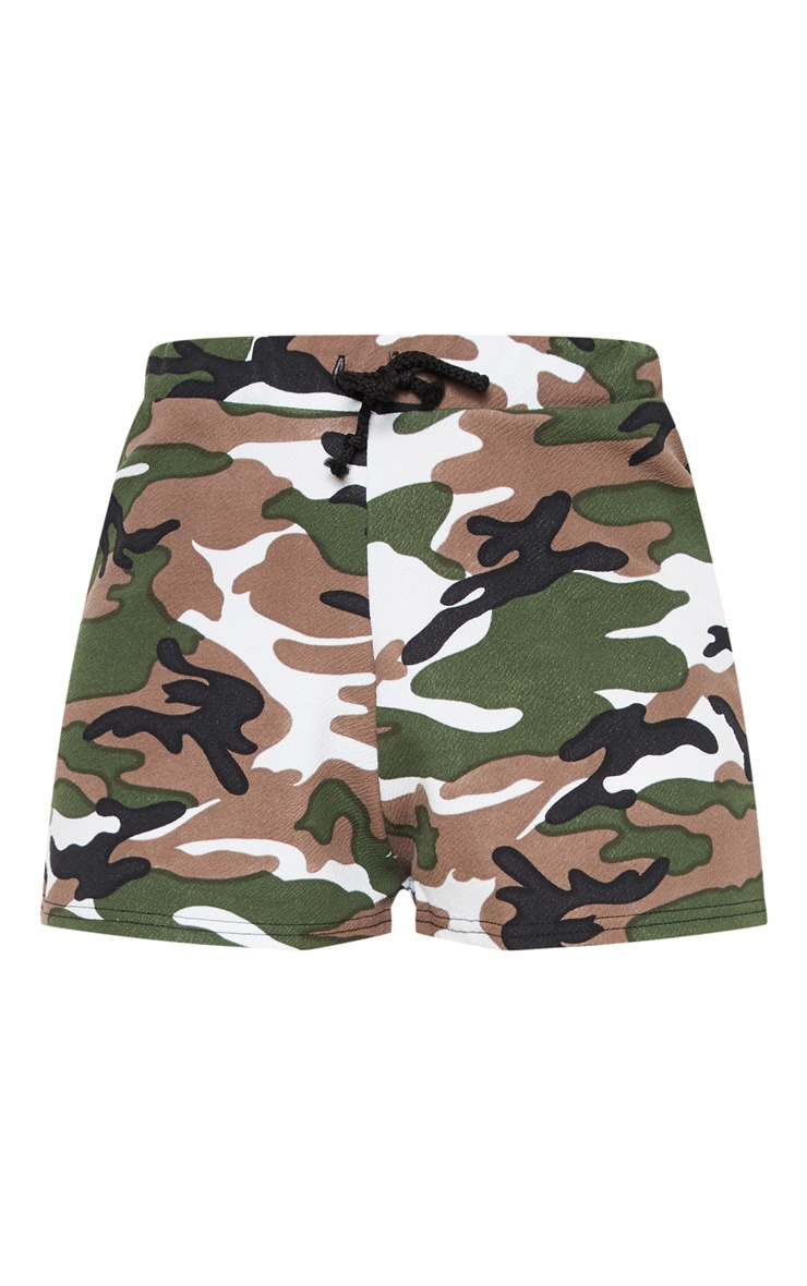 Grey Camo Drawstring Waist Short 3