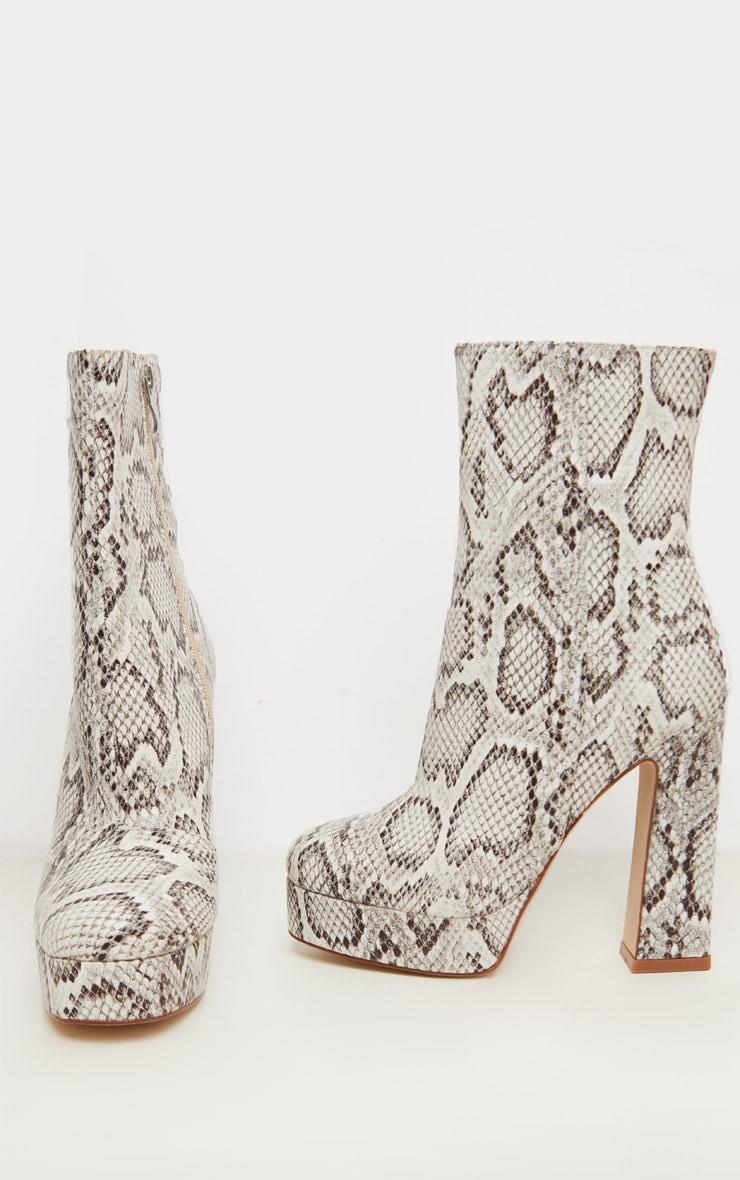 Snake Platform Ankle Boot 3