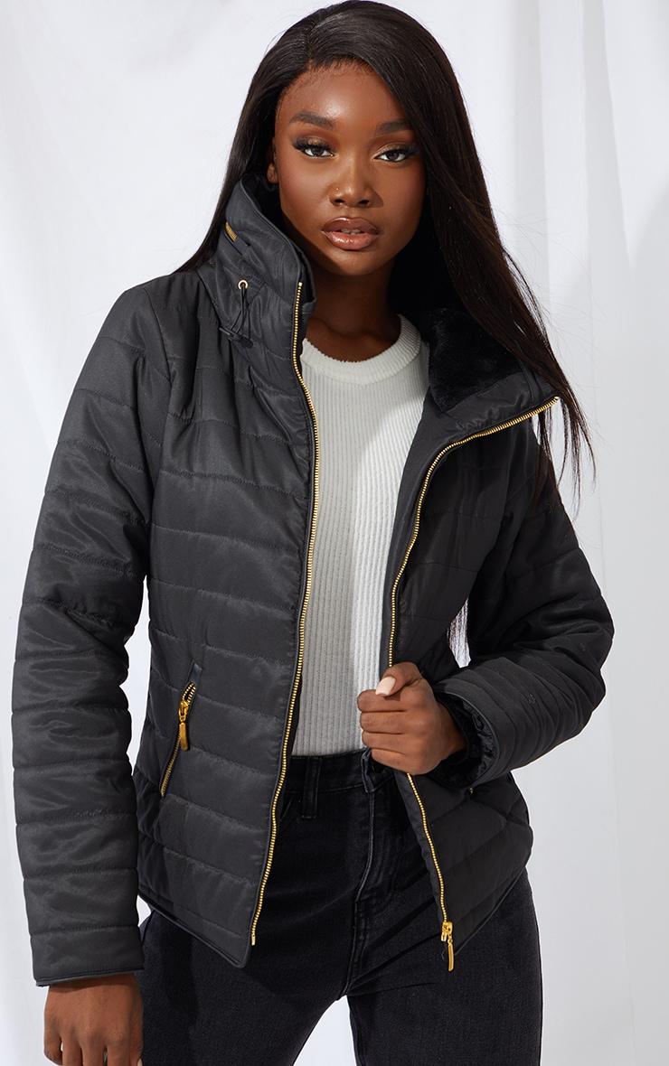 Tall Black Mara Puffer Jacket 1