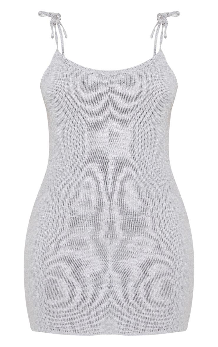 Grey Crochet Knitted Dress 3