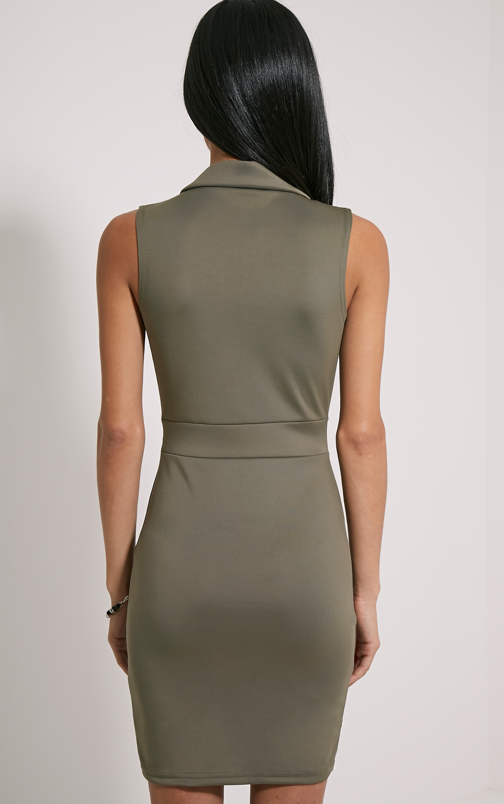 Samaine Khaki Belted Mini Dress 2