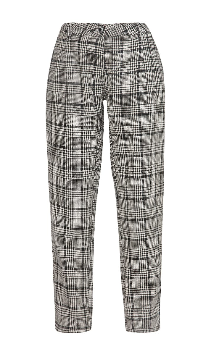 Amelia Dogtooth Tweed High Waist Trousers 8