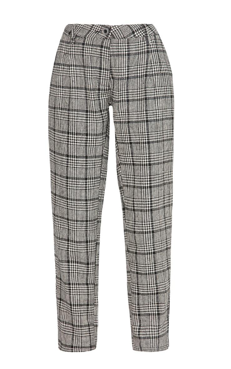 Amelia Dogtooth Tweed High Waist Pants 8