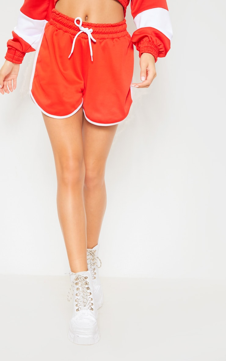 Red Contrast Seam Runner Short 2