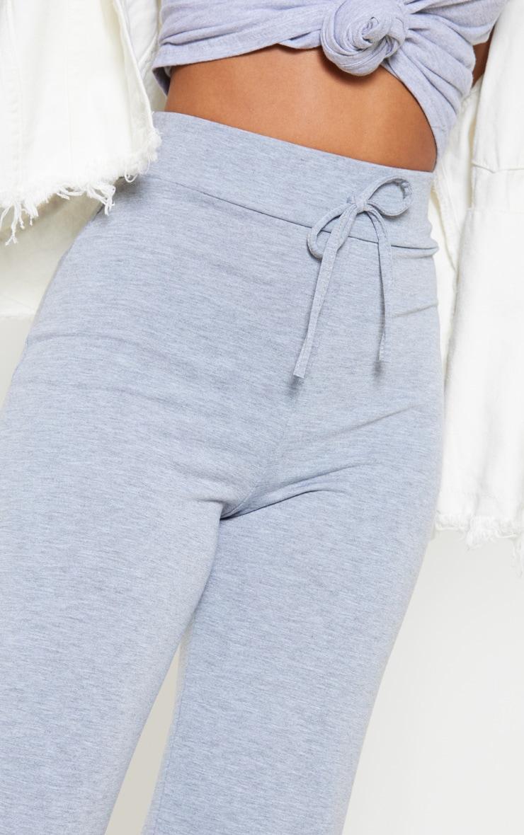 Petite Grey Drawstring Jersey Wide Leg Jogger 5