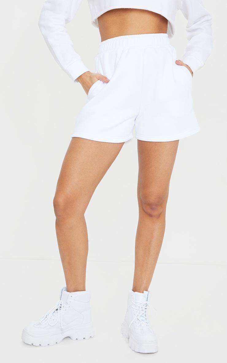 White Sweat Pocket Shorts 2