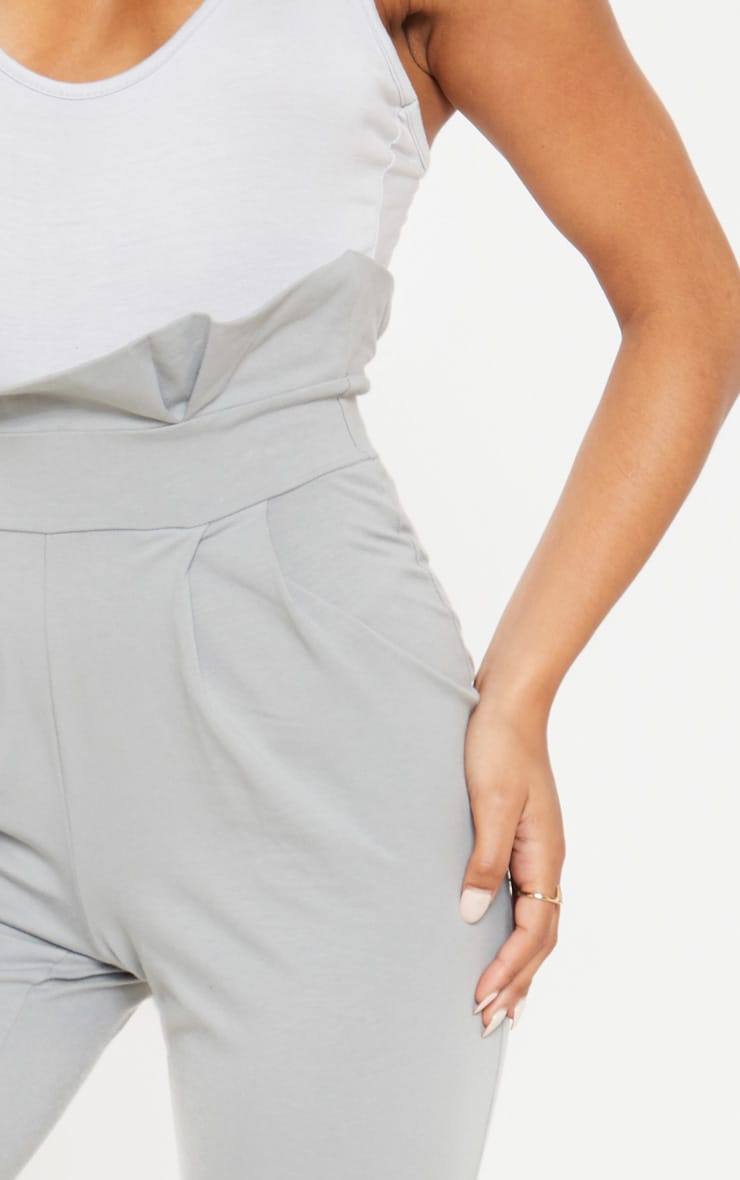 Grey Paperbag Waist Tapered Pants 5