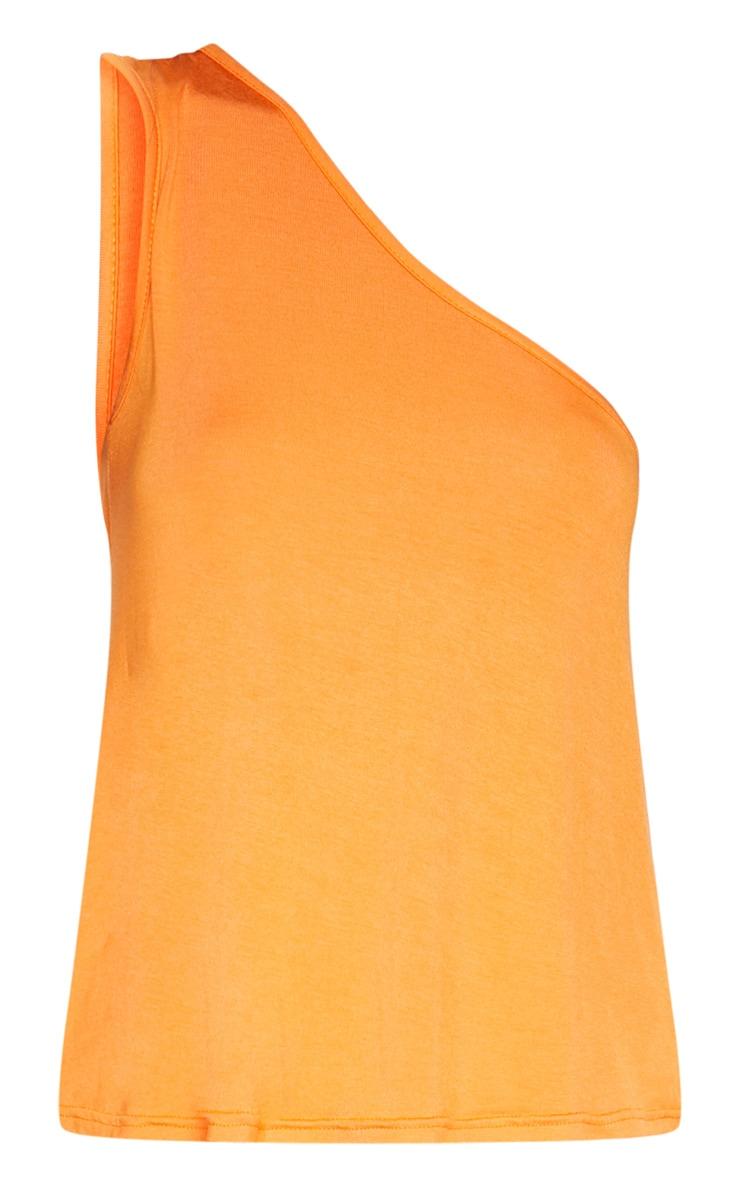 Basic Orange One Shoulder Top 3