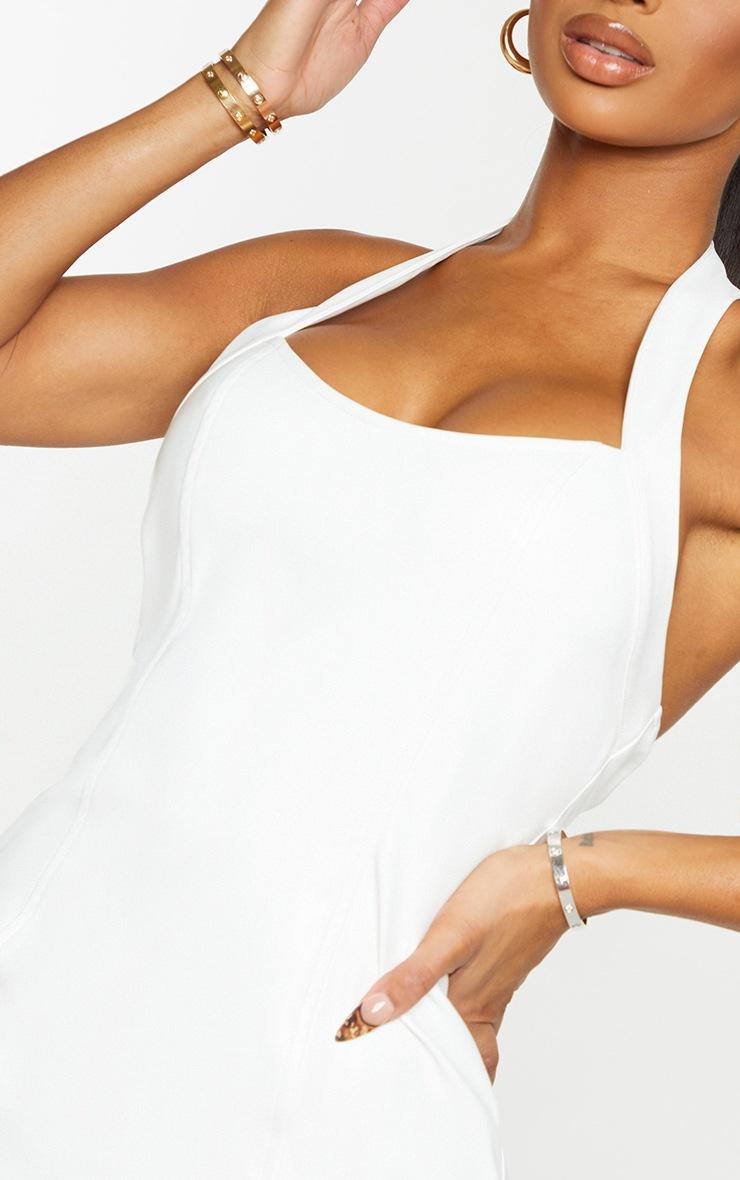 Shape White PU Halterneck Split Detail Bodycon Dress 4