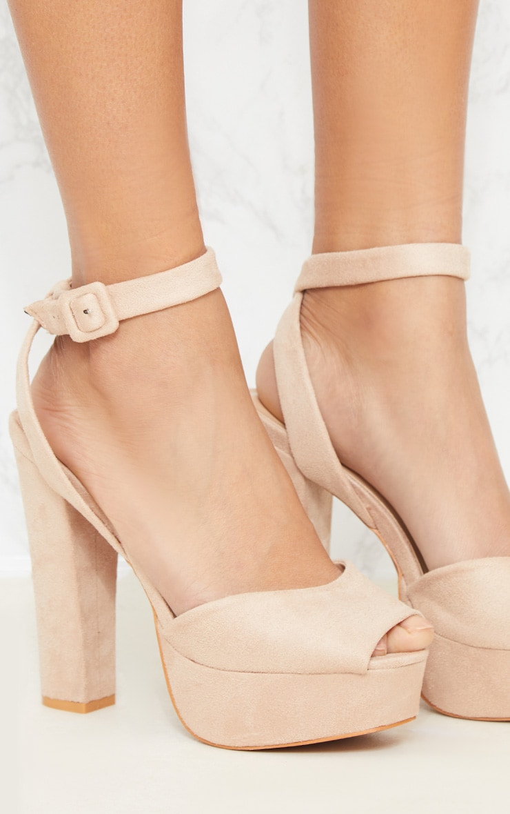 Nude Platform Sandal 5