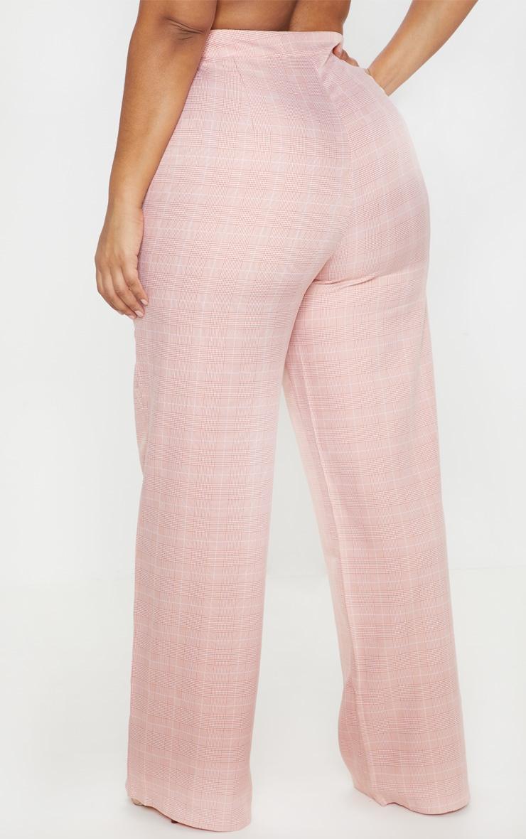 Plus Dusty Pink Check Suit Pants 4