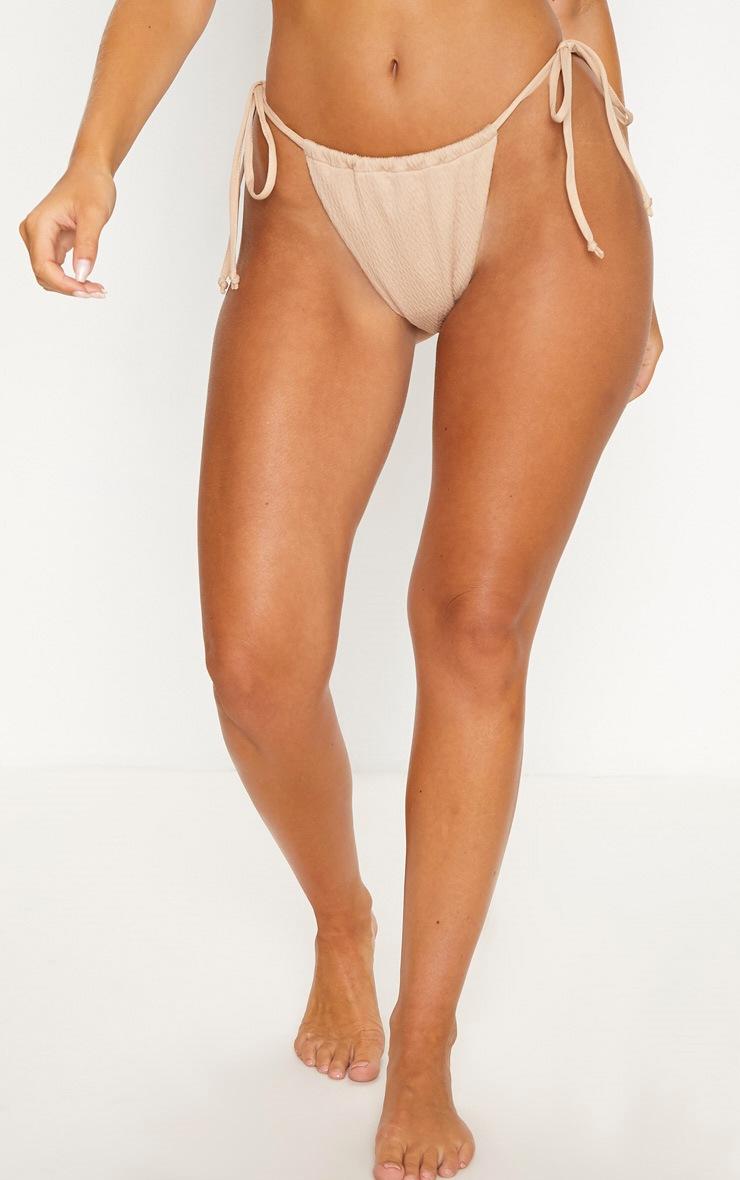 Stone Crinkle Tie Side Bikini Bottom 2