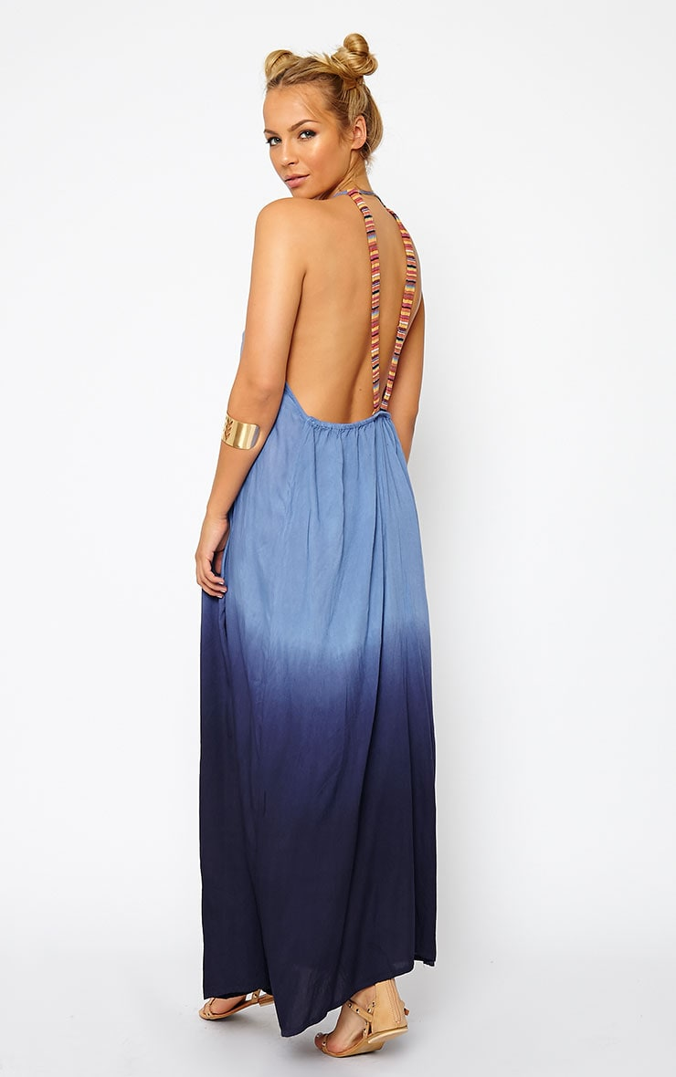 Izya Blue Ombre Maxi Dress 1