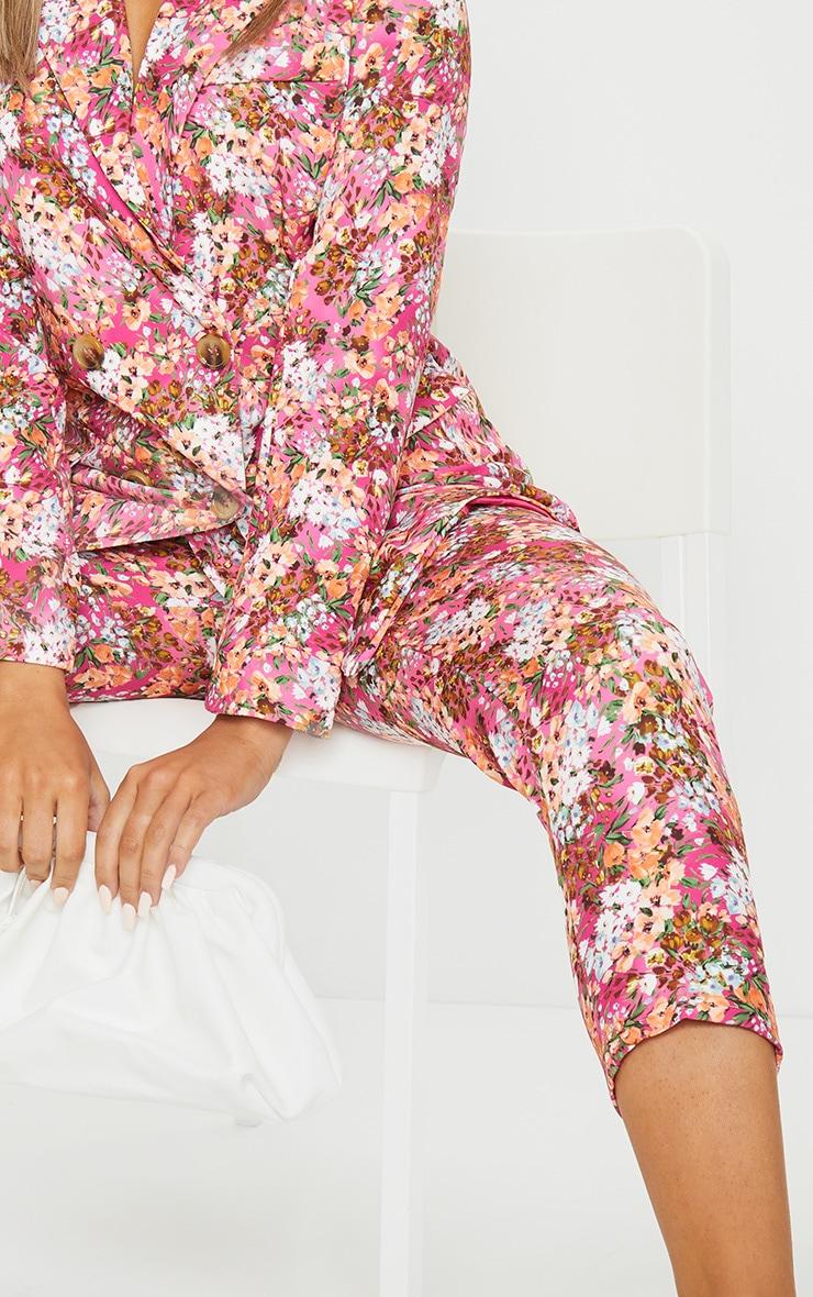 Pink Ditsy Floral Cigarette Pants 4