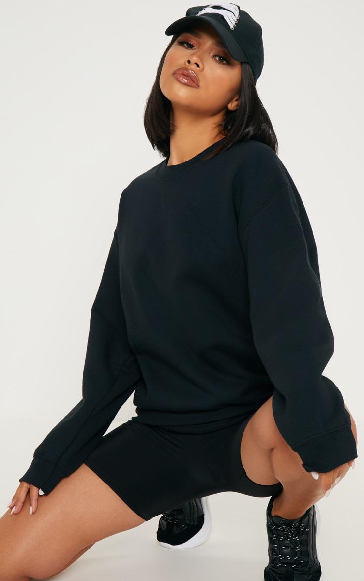 Black Calabasas Print Oversized Sweater 6