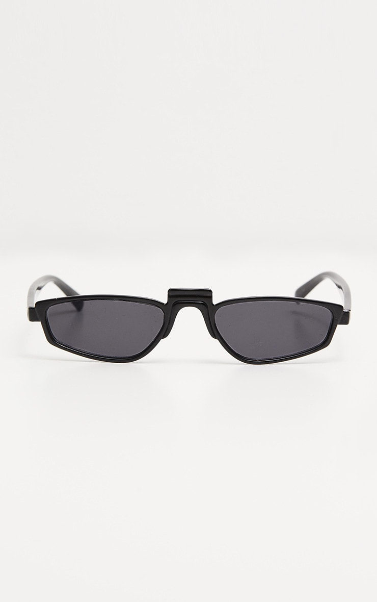 Black Thin Retro Sunglasses 3