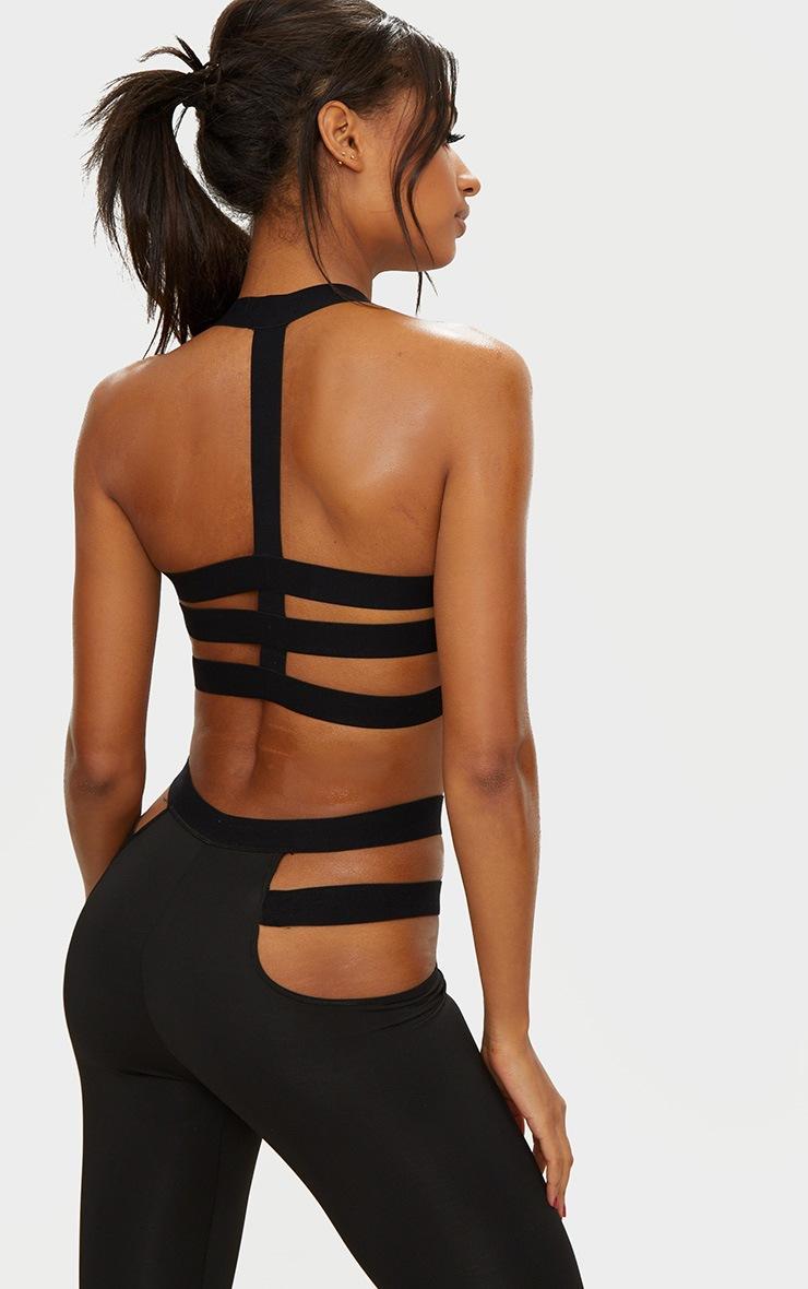 Black Strap Detail Crop Top 3