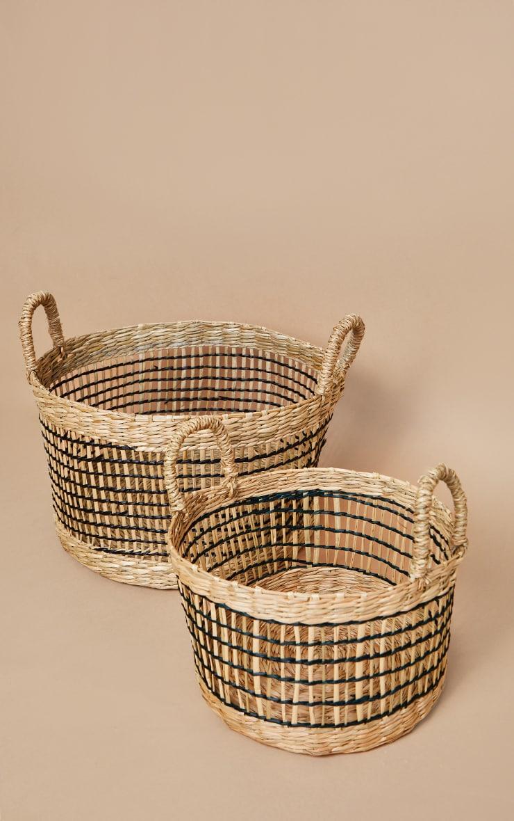 Seagrass Open Weave Baskets 2 Pack image 3