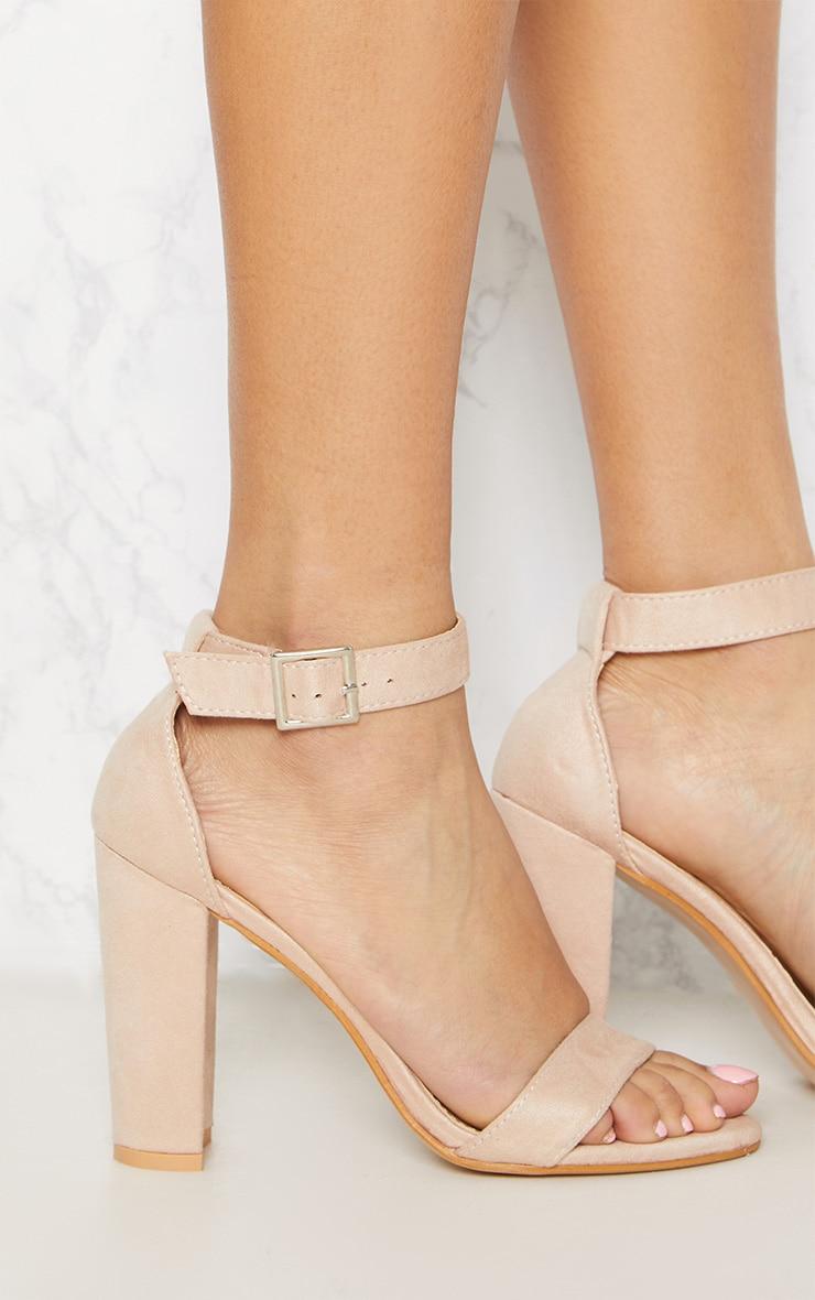 Dusty Pink Strappy Block Heel 4
