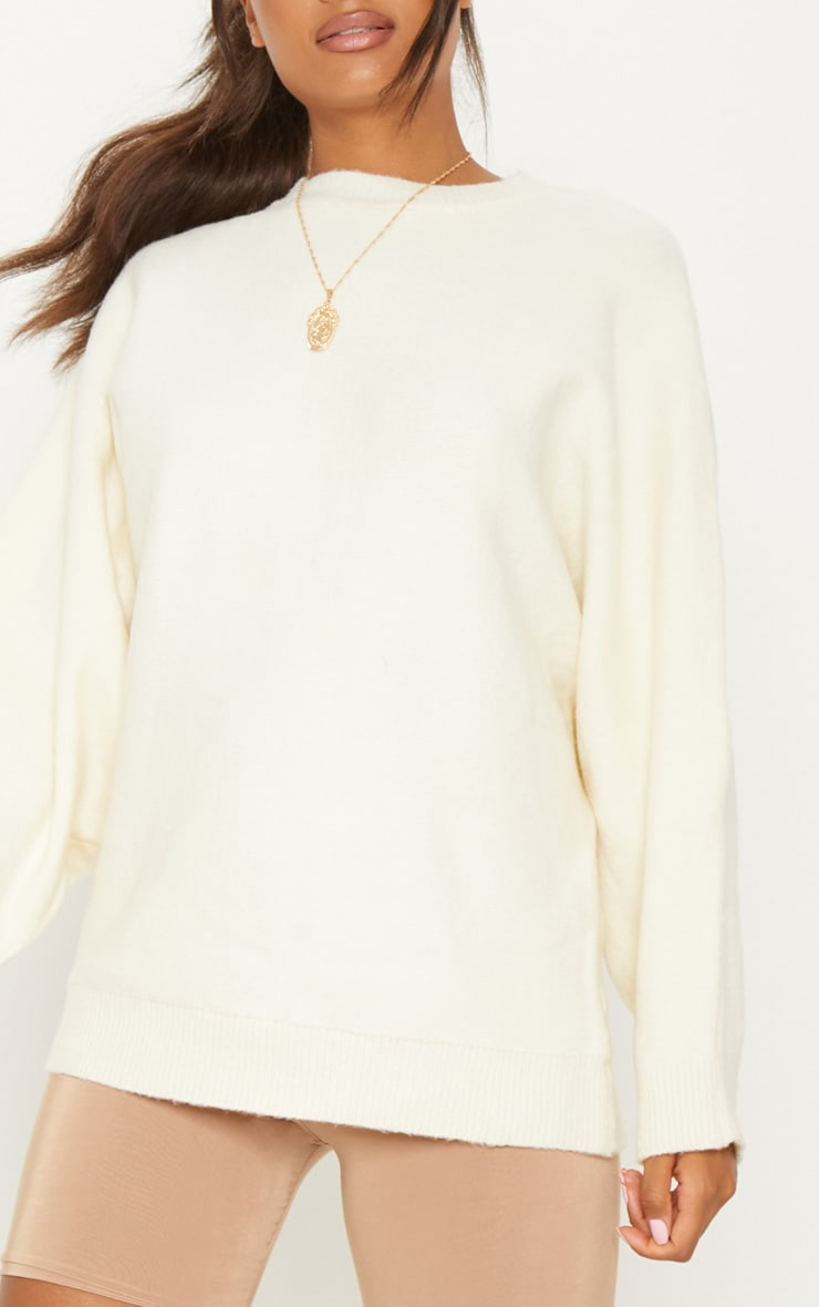 Beige Oversized Knitted Jumper 5