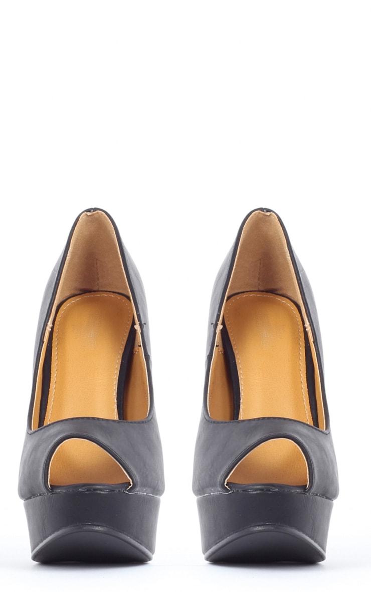 Tabitha Black Peep Toe Court Shoes 3