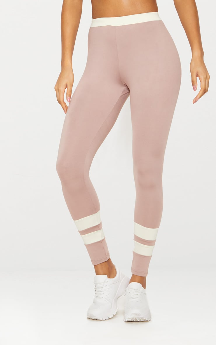 Taupe Contrast Leggings 3