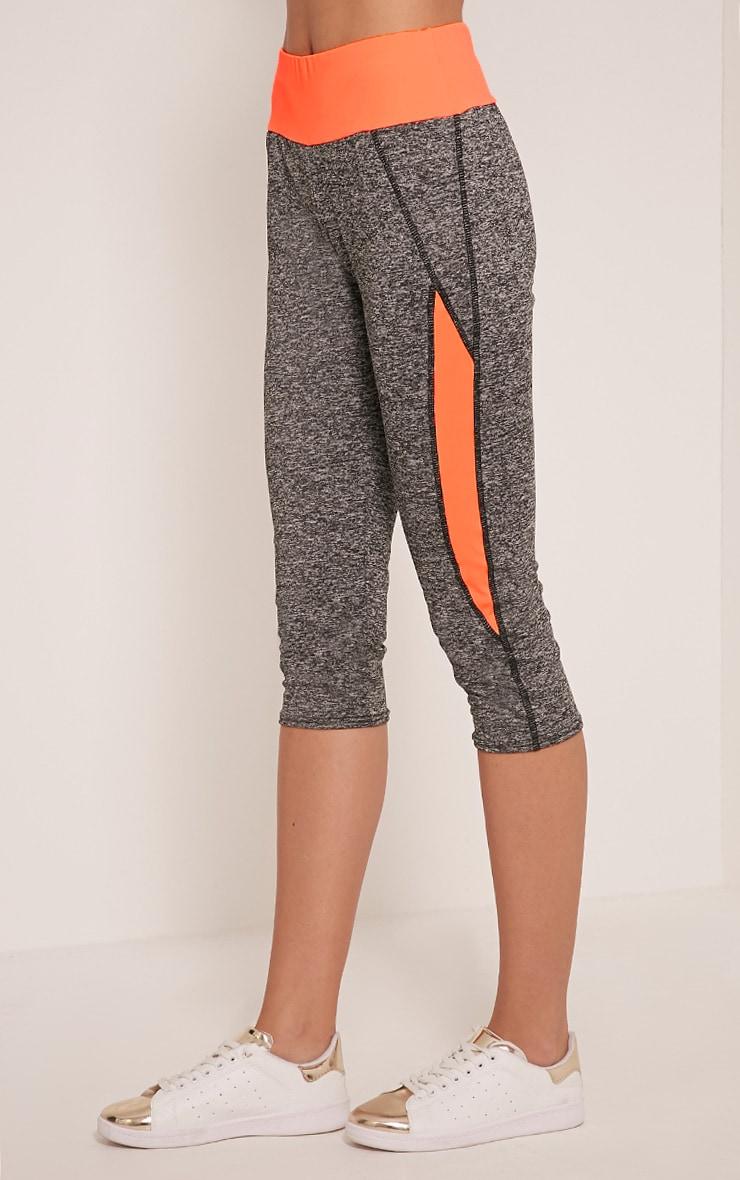 Jennie legging court sport orange à bandes 4
