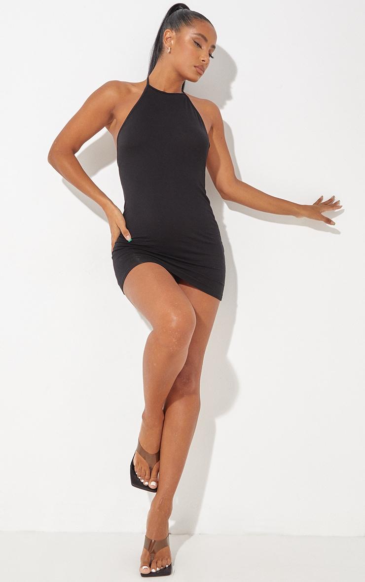 Robe moulante basique noire à dos nu 4
