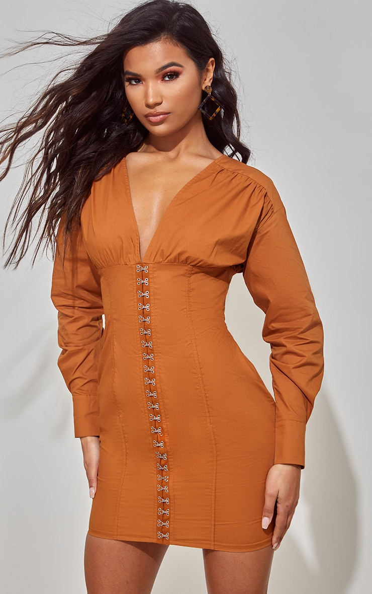 Toffee Corset Detail Bodycon Dress 2