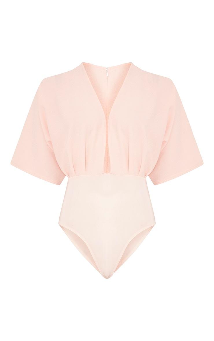 Tiegan Nude Wide Sleeve Plunge Bodysuit 3