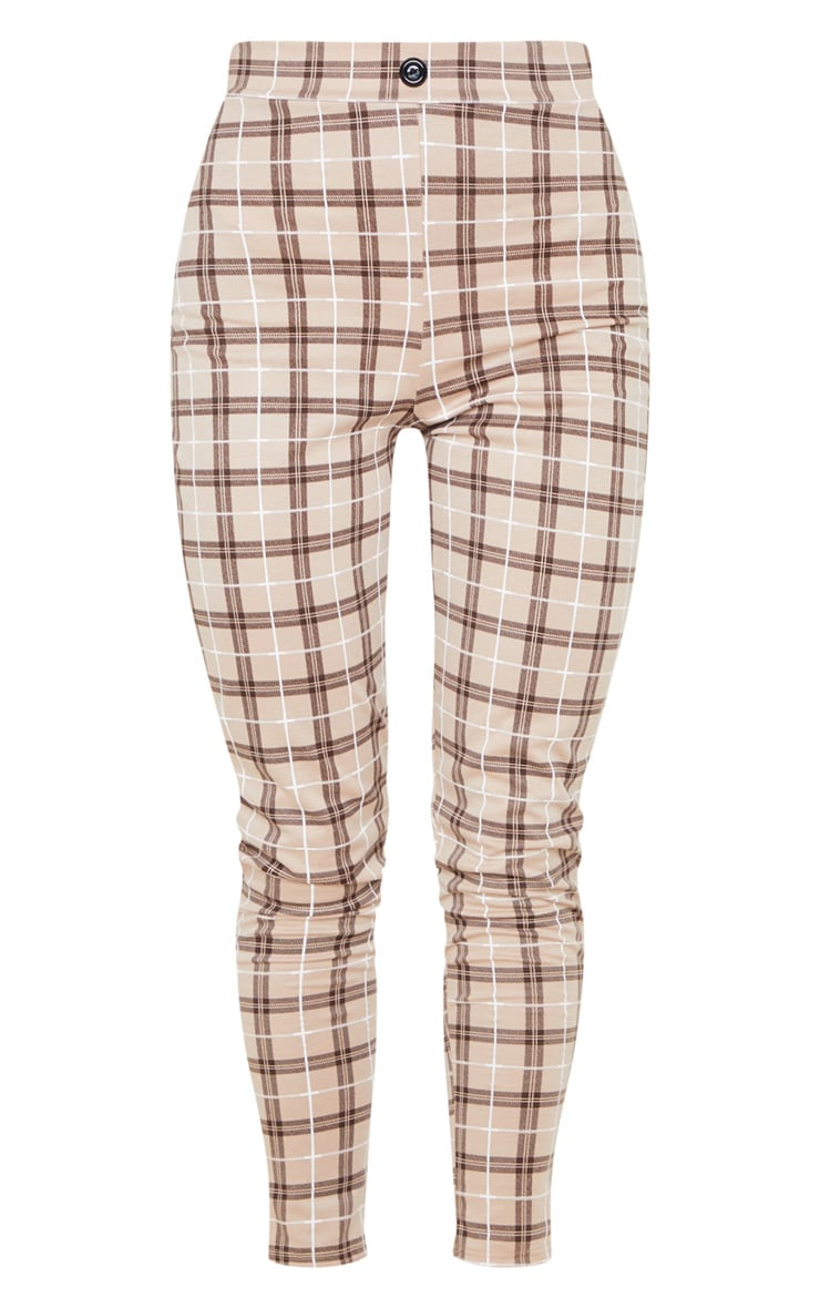 Stone Checked Cropped Skinny Pants 3