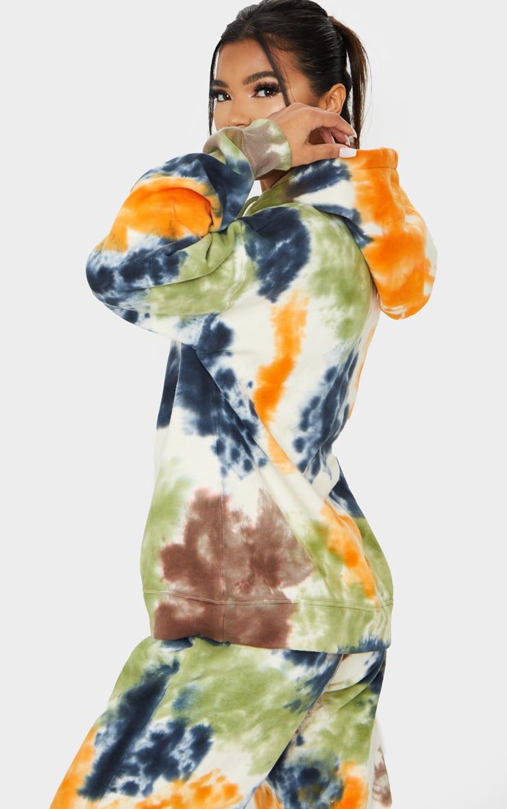 Multi Oversized Tie Dye Hoodie 2