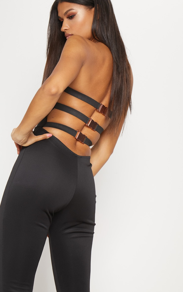 Black Buckle Back Detail Jumpsuit 5