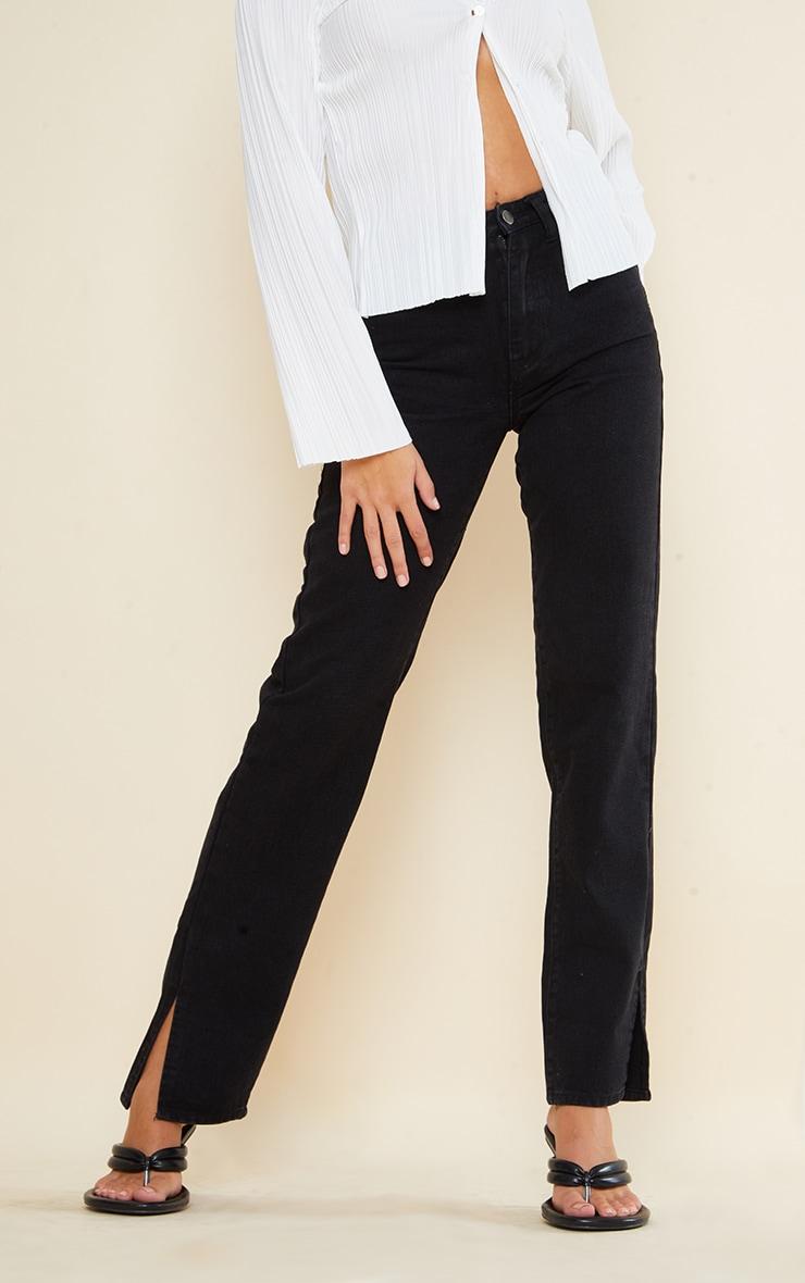 Tall Black Split Hem Jeans 2