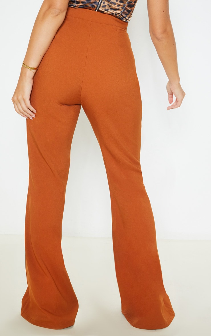 Chestnut Flare Tailored Pants 4