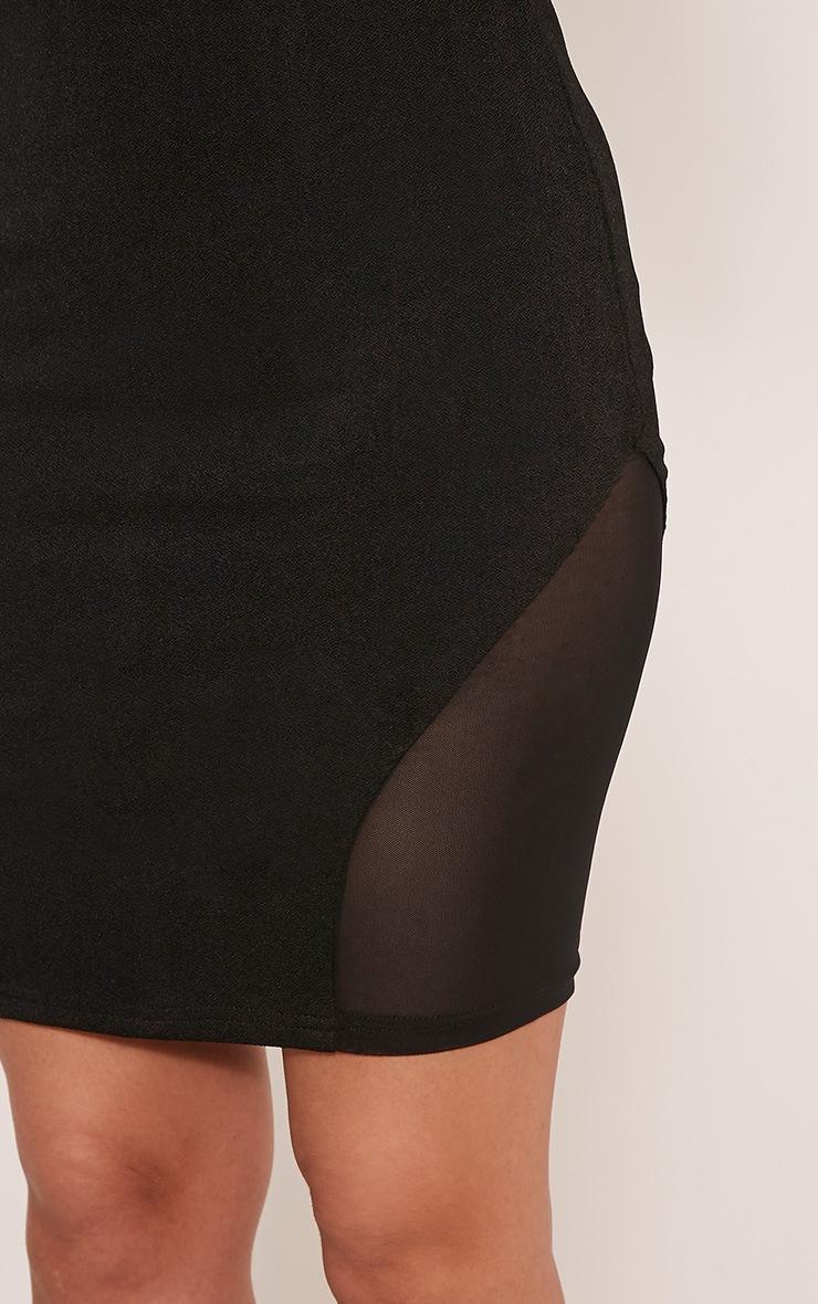 Cleo Black Mesh Insert Mini Skirt 6