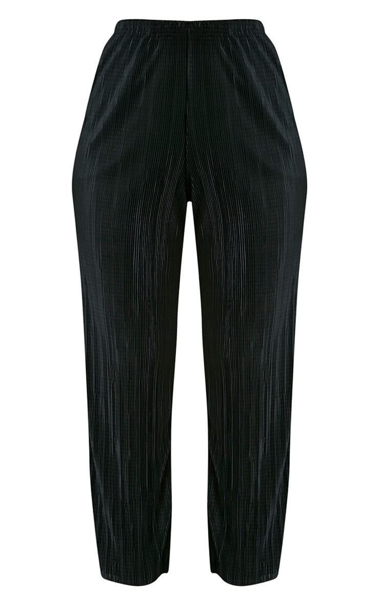 Lianne Black Soft Pleated Cigarette Trousers 3