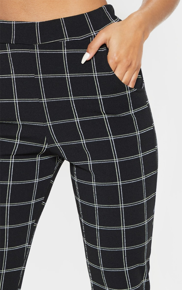 Black Tweed Check Skinny Pants 5