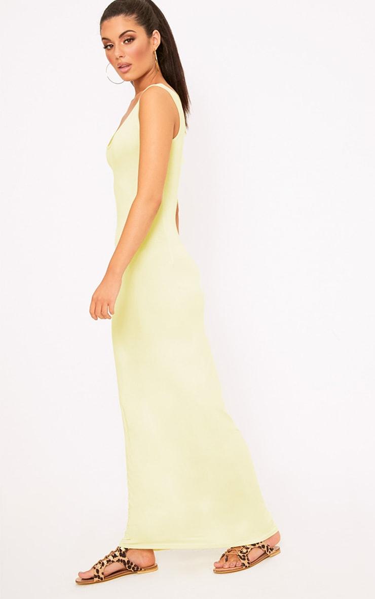 Lemon Racer Maxi Dress 4