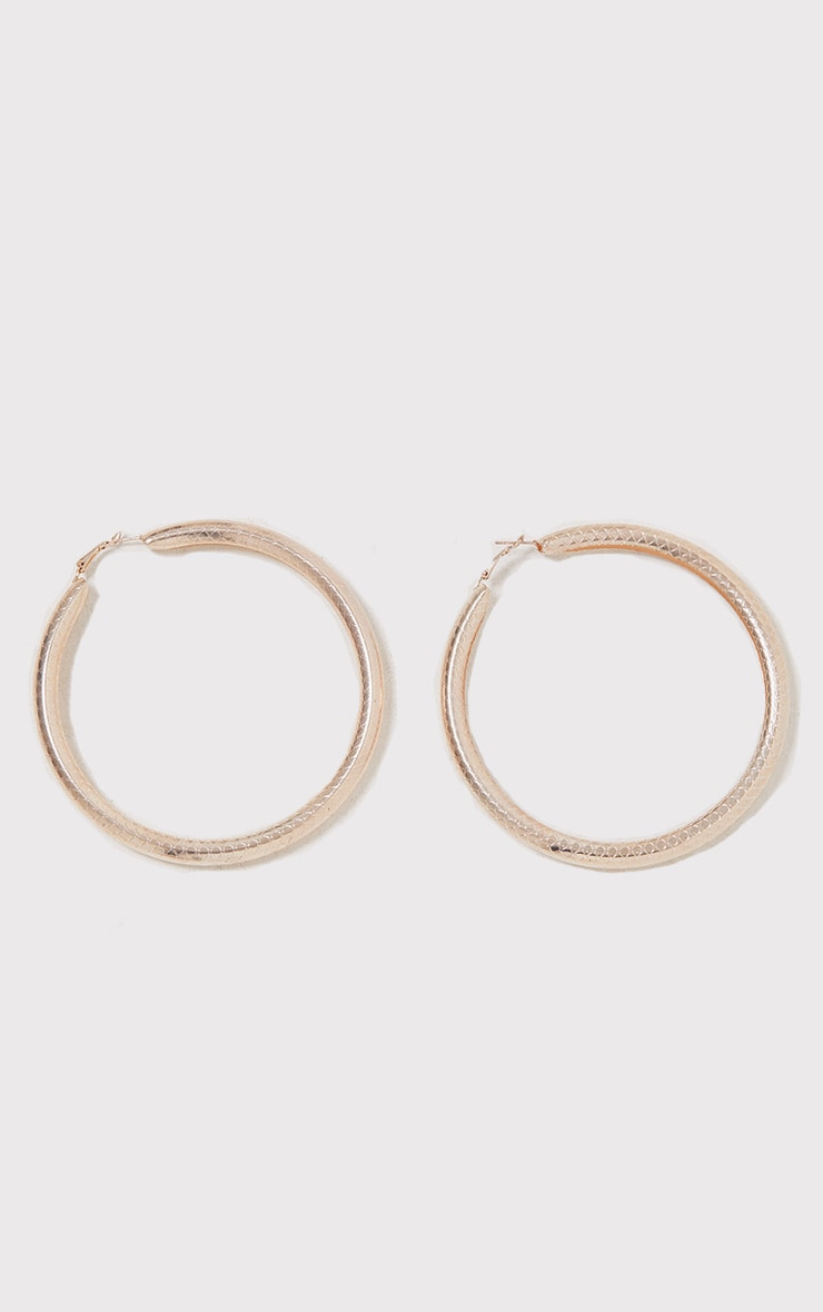 Nerys Gold Tube Hoop Earrings 2