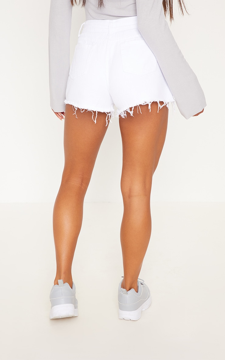 Light Wash/White 2 Pack Elana Hot Pants  4