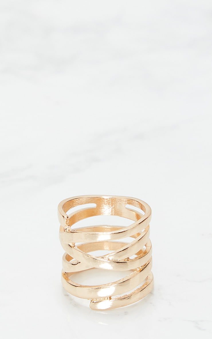 Gold Twisted Ring 2