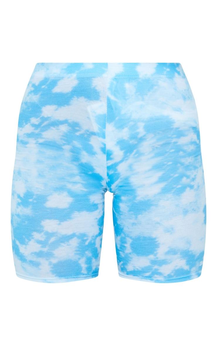 Basic Blue Tie Dye Cycle Shorts 5