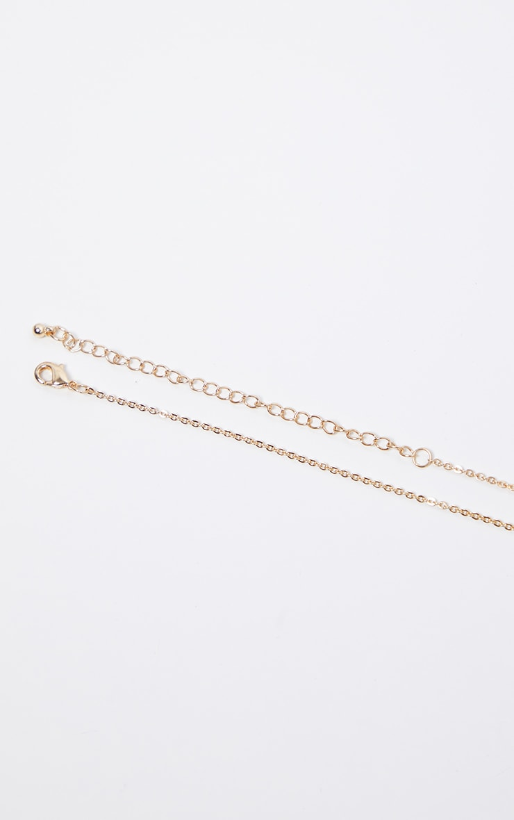 Gold Diamante Scorpio Star Sign Necklace 4